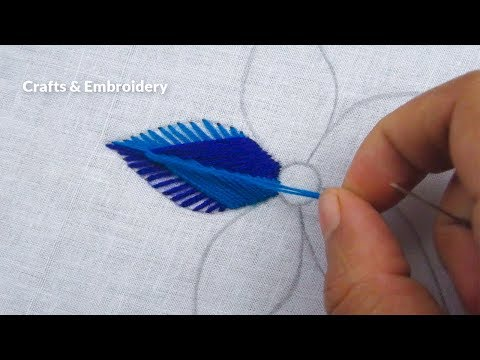 Hand Embroidery, Modern Flower Embroidery, Easy Flower Design