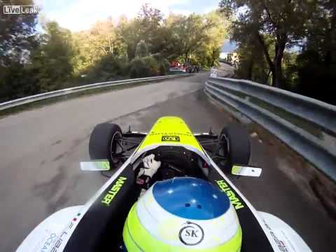 Going All-out In A Formula Car On A Mountain Road