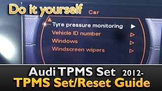 Audi TPMS How to reset the Tire pressure