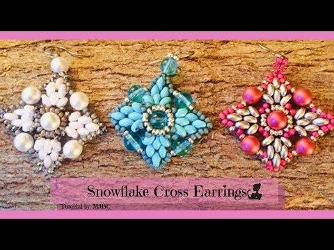 Snowflake/Cross Earrings