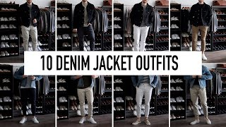 10 Denim Jacket Outfits | Mens Fashion | Style For Men