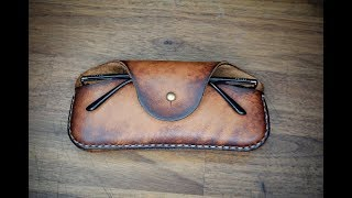 How To Make A Leather Glasses Case - Tutorial And Pattern Download