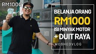 Belanja Orang RM1000 Isi Minyak Motor dan Duit Raya | Moshed Vlog 020