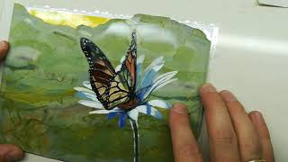 Флорентийская мозаика. Завершение сборки бабочки.