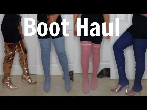 Winter Thigh High Boot Haul (Big Foot Friendly)| AMICLUBWEAR