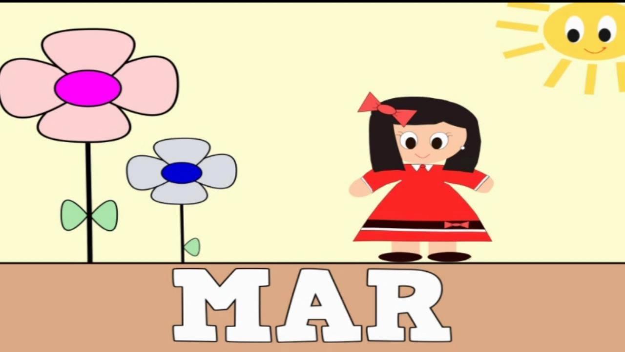 Aprender a leer y escribir MAR - Vídeos Educativos para Niños y Bebés