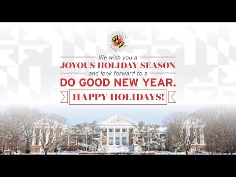 2017 Holiday Greetings from UMD