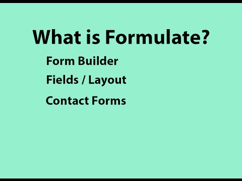 Introduction to Formulate