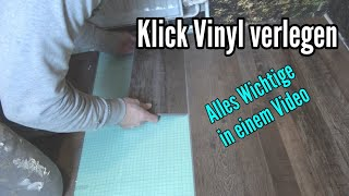 Klick Vinyl verlegen Anleitung Klick Vinylboden verlegen auf Fliesen Vinyldielen