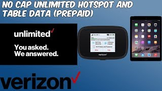 Verizon Offering Prepaid No Cap Unlimited Hotspot and Tablet Data (HD)
