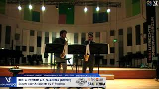 DUO A. Fotiadis & D. Palamidas play Sonate by F. Poulenc #adolphesax