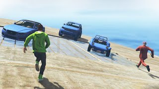 ROOFTOP DERBY EXTREME! (GTA 5 Funny Moments)