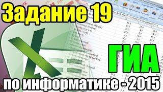Разбор задания 19. ГИА по информатике 2015. Задание ФИПИ