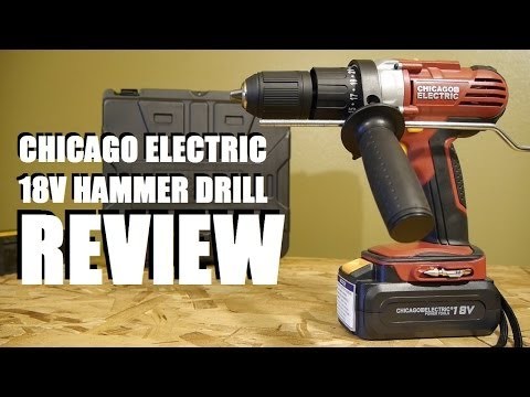 Harbor Freight Chicago Electric 18 Volt Hammer Drill Review