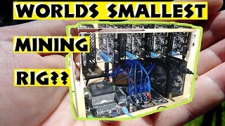 Worlds Smallest Mining Rig?? 5x GTX 1050, 400 watts, 850 sol/s