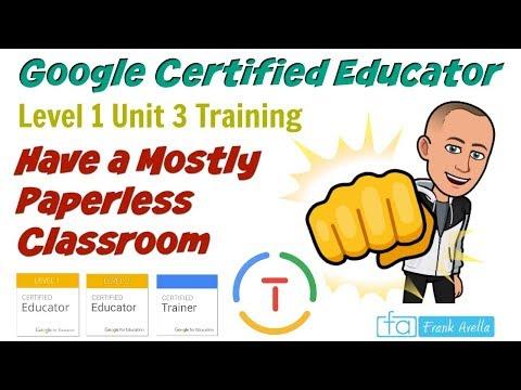 Google Certified Educator Level 1: Unit 3: - YouTube