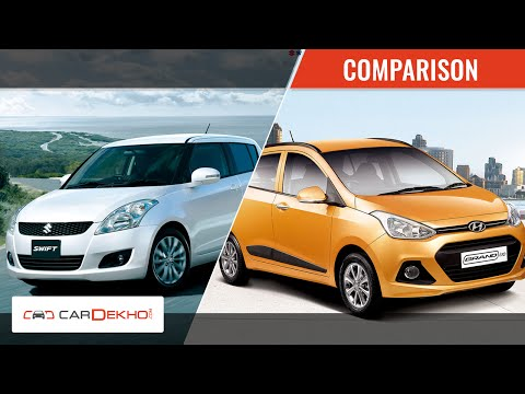 Hyundai Grand i10 vs Maruti Swift | Video Comparison | CarDekho.com