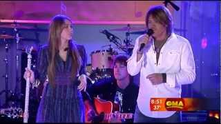Miley Cyrus & Billy Ray Cyrus - Butterfly Fly Away - Good Morning America 2009