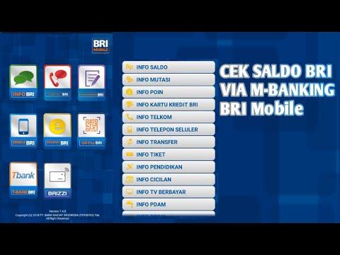 CEK SALDO BRI VIA M-BANKING || BRI MOBILE
