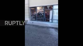 USA: Angry customer rams SUV into T-mobile store