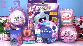 Pikmi POPS FLIPS HAIRDORABLES LOL Glam Glitter Surprise DOLLS NUM NOMS MInnie Mouse TOYS Unboxing