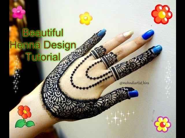 Henna Jewellery Mehndi : Video how to apply easy simple beautiful stylish henna mehndi