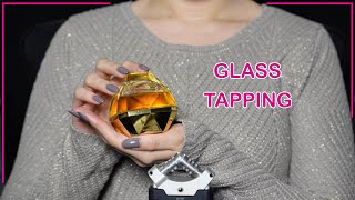 ASMR Glass Perfume Bottle Tapping &  Liquid Sounds (NO TALKING) 💎😴