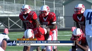 Prep players sweat it out for fall football