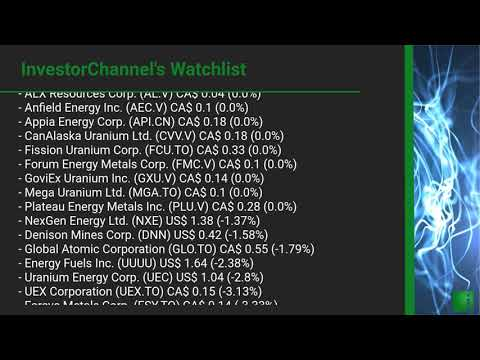 InvestorChannel's Uranium Watchlist Update for Thursday, M ... Thumbnail