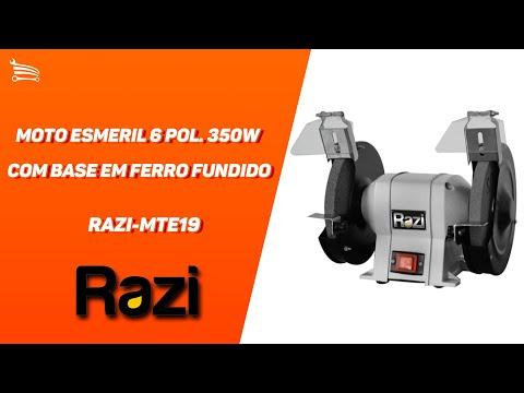 Moto Esmeril 6 Pol. 350W  com Base em Ferro Fundido - Video