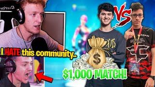 Tfue SPEAKS OUT against Fortnite Community.. Bugha vs FaZe Sway WAGER!