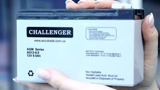 Аккумулятор Challenger AS 12-9.0 от компании ПКФ «Электромотор» - видео
