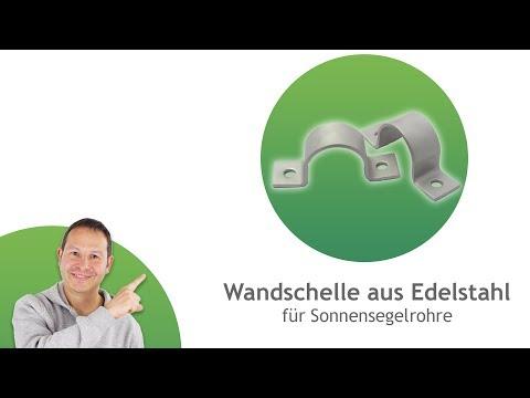 Wandschellen aus Edelstahl - Mast/ Stangen Wandhalterung in verschiedenen Größen