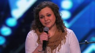 "Britney Allen: Nervous Singer Covers ""Wherever You Will Go"" by The Calling - America's Got Talent -"