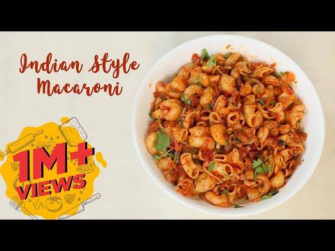 Indian Style Macaroni   Lunch Box Macaroni Recipe