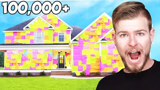 I Covered An Entire House In Sticky Notes