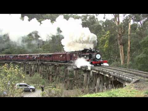 autokaarten Australian Steam Trains Puffing Billy Railway..