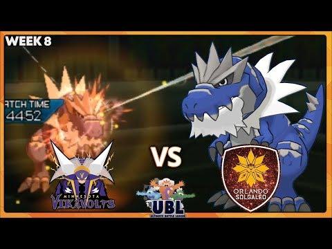 HEADSMASH EVERYTHING! | Minnesota Vikavolts VS Orlando Solgaleo | UBL W8 | Pokemon Ultra Sun Moon