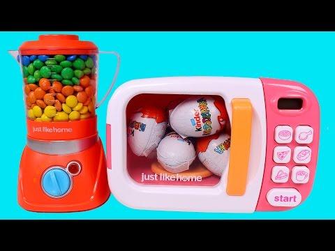 ⚛ MICROONDAS MÁGICO ⚛ Microondas y batidora mágicos con M&M's de colores