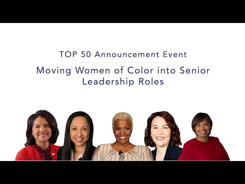 Moving Women of Color into Senior Leadership Roles | 2019 DiversityInc Top 50 Announcement Event