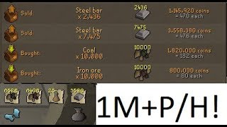 new blast furnace guide 1m hour best smithing exp oldschool