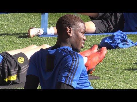 Download Paul Pogba, Aaron Wan-Bissaka & Daniel James Train As Man Utd's Pre-Season Tour Kicks Off In Perth HD Mp4 3GP Video and MP3