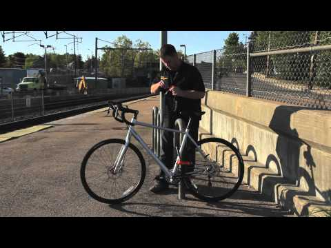 Proper Bike Lock-Up Video with a U-Lock
