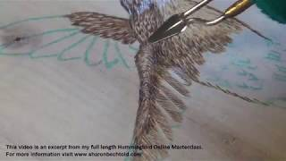 Pyrography How To Burn Feathers On A Hummingbird