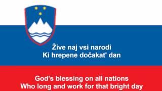 Zdravljica - National anthem of Slovenia (SI, EN lyrics)