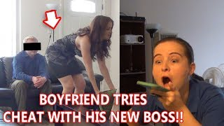 Boyfriend Caught Cheating on Job Interview with Boss! Girlfriend Watches   To Catch a Cheater