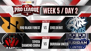 RoV Pro League Season 3 Presented by TrueMove H : Week 5 Day 2