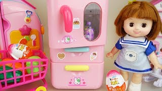 Baby doll refrigetator and food kitchen play Doli house