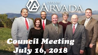 Preview image of City Council Meeting - July 16, 2018