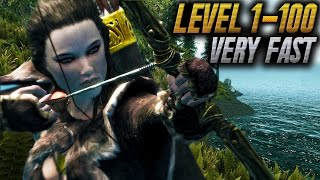 Skyrim Remastered LEVEL 100 All COMBAT Skills FAST At LEVEL 1 (Archery, One Handed & More)